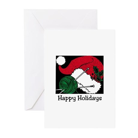Happy Holidays - Knitting Yar Greeting Cards (Pk o