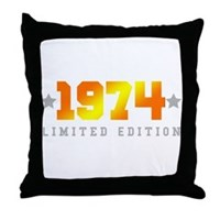 Limited Edition 1974 Birthday Throw Pillow