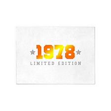 Limited Edition 1978 Birthday 5'x7'Area Rug