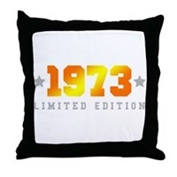 Limited Edition 1973 Birthday Throw Pillow