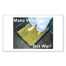 Make Wine Not War Rectangle Decal