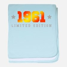 Limited Edition 1961 Birthday baby blanket