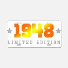 Limited Edition 1948 Birthday Aluminum License Pla