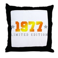 Limited Edition 1977 Birthday Throw Pillow