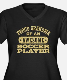 Soccer Grand Women's Plus Size V-Neck Dark T-Shirt