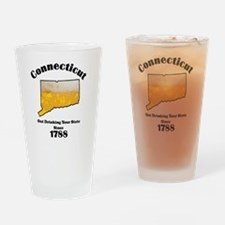 Connecticut is better then you Drinking Glass
