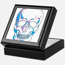 Skull with Vines Keepsake Box