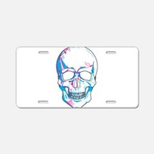 Skull with Vines Aluminum License Plate