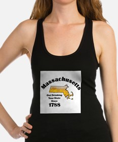 Massachusetts is better then you Racerback Tank To