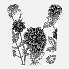 Dahlia Pattern Black/White Bib