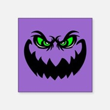 """Evil Halloween Ghoul Square Sticker 3"""" x 3"""""""