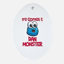 Dan Monster Oval Ornament