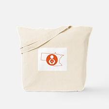 MN/ND Babywearing Orange Tote Bag