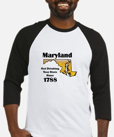 Maryland is better then you Baseball Jersey