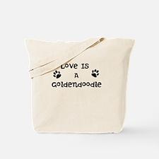 Love Goldendoodle Tote Bag
