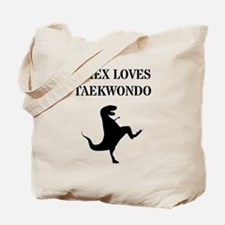 T-Rex Loves Taekwondo  Tote Bag