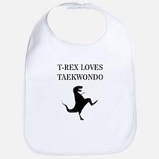 T-Rex Loves Taekwondo Bib