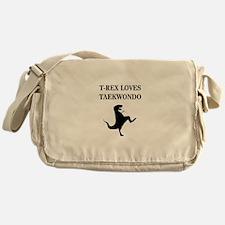 T-Rex Loves Taekwondo Messenger Bag