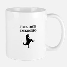 T-Rex Loves Taekwondo Mugs