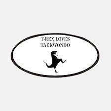 T-Rex Loves Taekwondo Patch