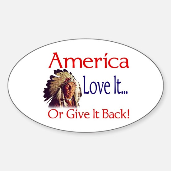 America Oval Decal