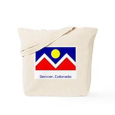 Denver CO Flag Tote Bag
