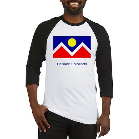 Denver CO Flag Baseball Jersey