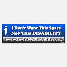 Don't Want Space Nor Disability Bumper Car Car Sticker