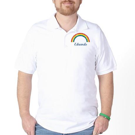 Eduardo vintage rainbow Golf Shirt