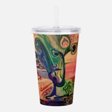 Peacock World Acrylic Double-wall Tumbler