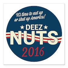 """Deez Nuts Political Paro Square Car Magnet 3"""" x 3"""""""