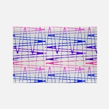 Abstract Serendipity Blue Pink Barbara's F Magnets