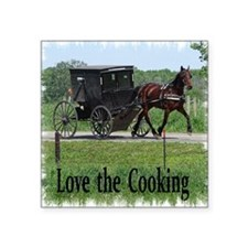 """Amish Cooking Square Sticker 3"""" x 3"""""""