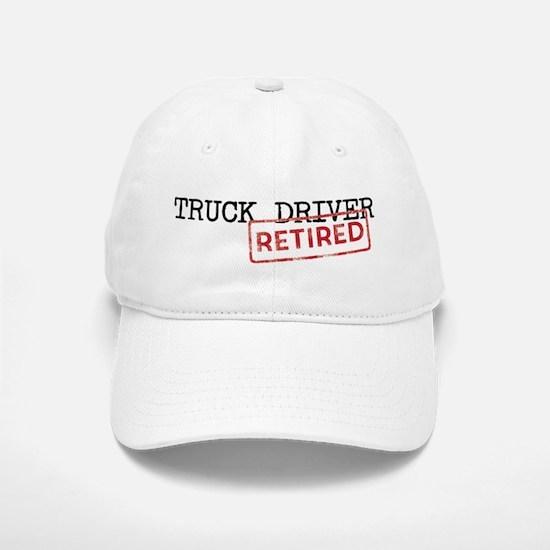 Retired Truck Driver Baseball Baseball Cap