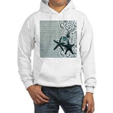 beach starfish blue burlap Jumper Hoody
