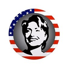 stars and stripes hillary clinton Button
