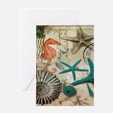 french beach sea shells Greeting Cards