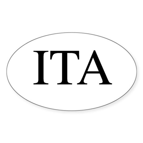 ITA Oval Sticker