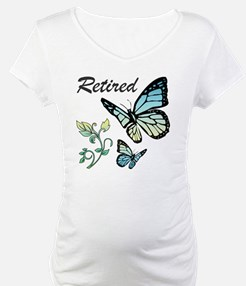 Retired w/ Butterflies Shirt