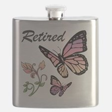 Retired w/ Butterflies Flask