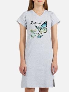 Retired w/ Butterflies Women's Nightshirt