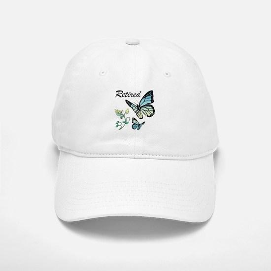 Retired w/ Butterflies Baseball Baseball Cap