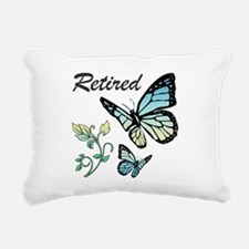 Retired w/ Butterflies Rectangular Canvas Pillow