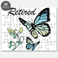 Retired w/ Butterflies Puzzle