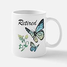 Retired w/ Butterflies Mugs