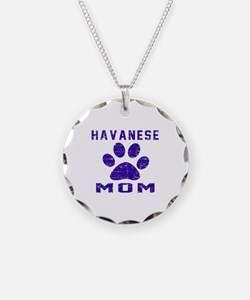 Havanese mom designs Necklace Circle Charm