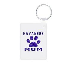Havanese mom designs Aluminum Photo Keychain