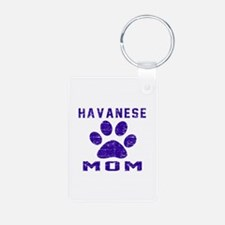 Havanese mom designs Aluminum Photo Keychain