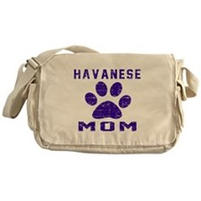 Havanese mom designs Messenger Bag