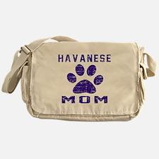 Havanese mom designs Messenger Bag